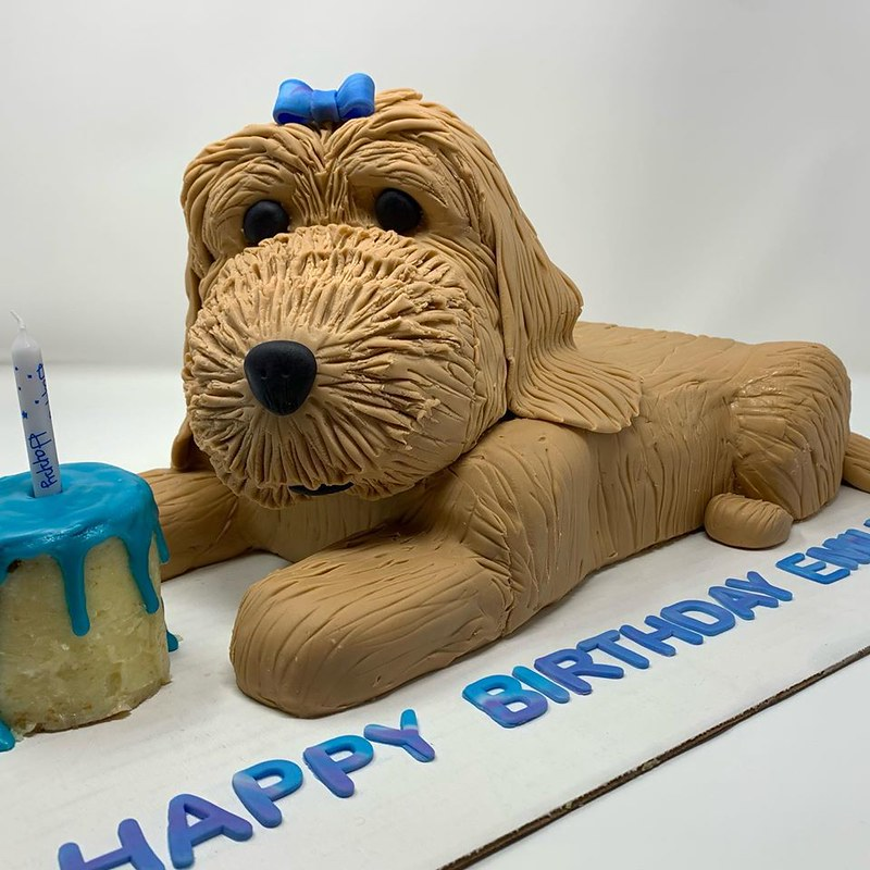 Cute Dog Cake by Kim the Baker