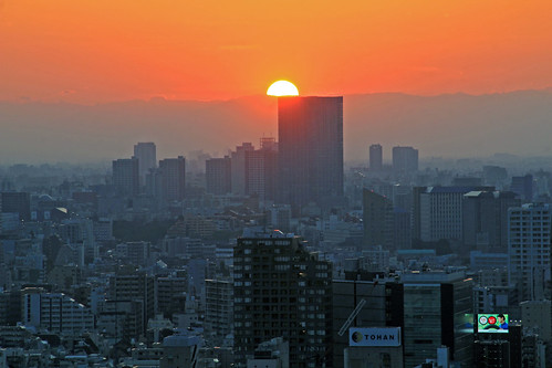 tokyo tower city scape 六本木 japan car architecture urban sky building asia urbanism sunset pano panorama