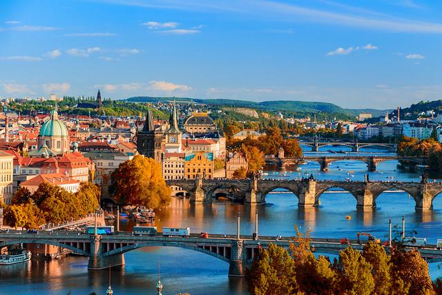 Croisière sur la rivière Vltava à Prague
