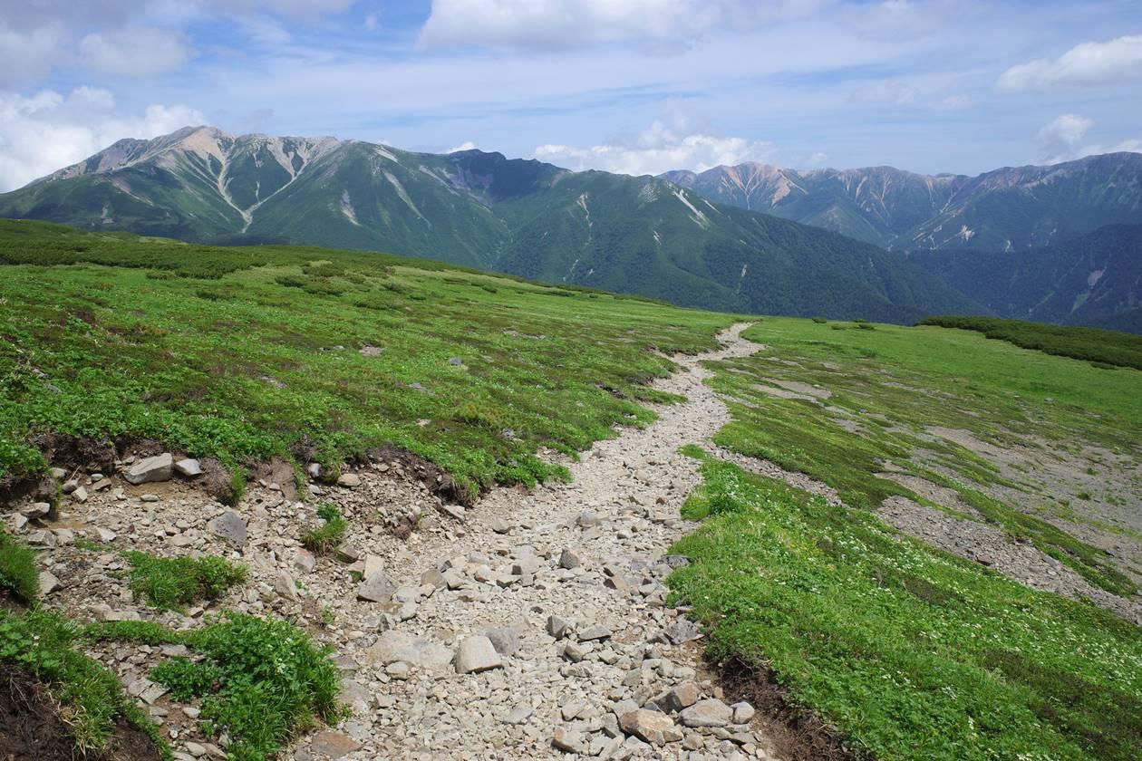 北アルプス・黒部五郎岳~薬師岳の稜線登山
