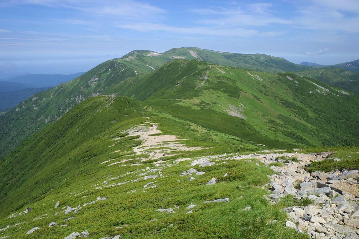 黒部五郎岳~北ノ俣岳の稜線登山