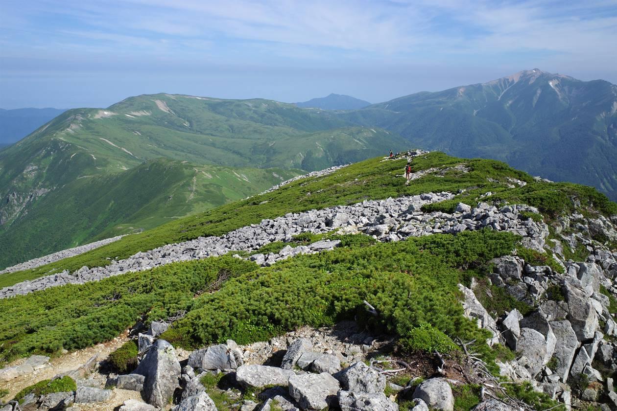 黒部五郎岳から眺める薬師岳
