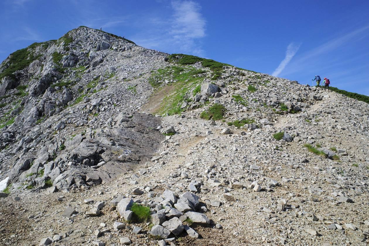 黒部五郎岳最後の登り