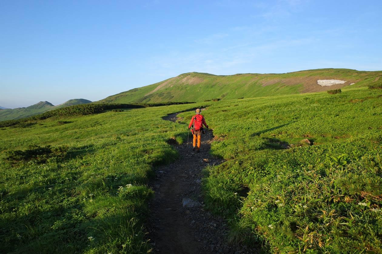 北ノ俣岳の稜線