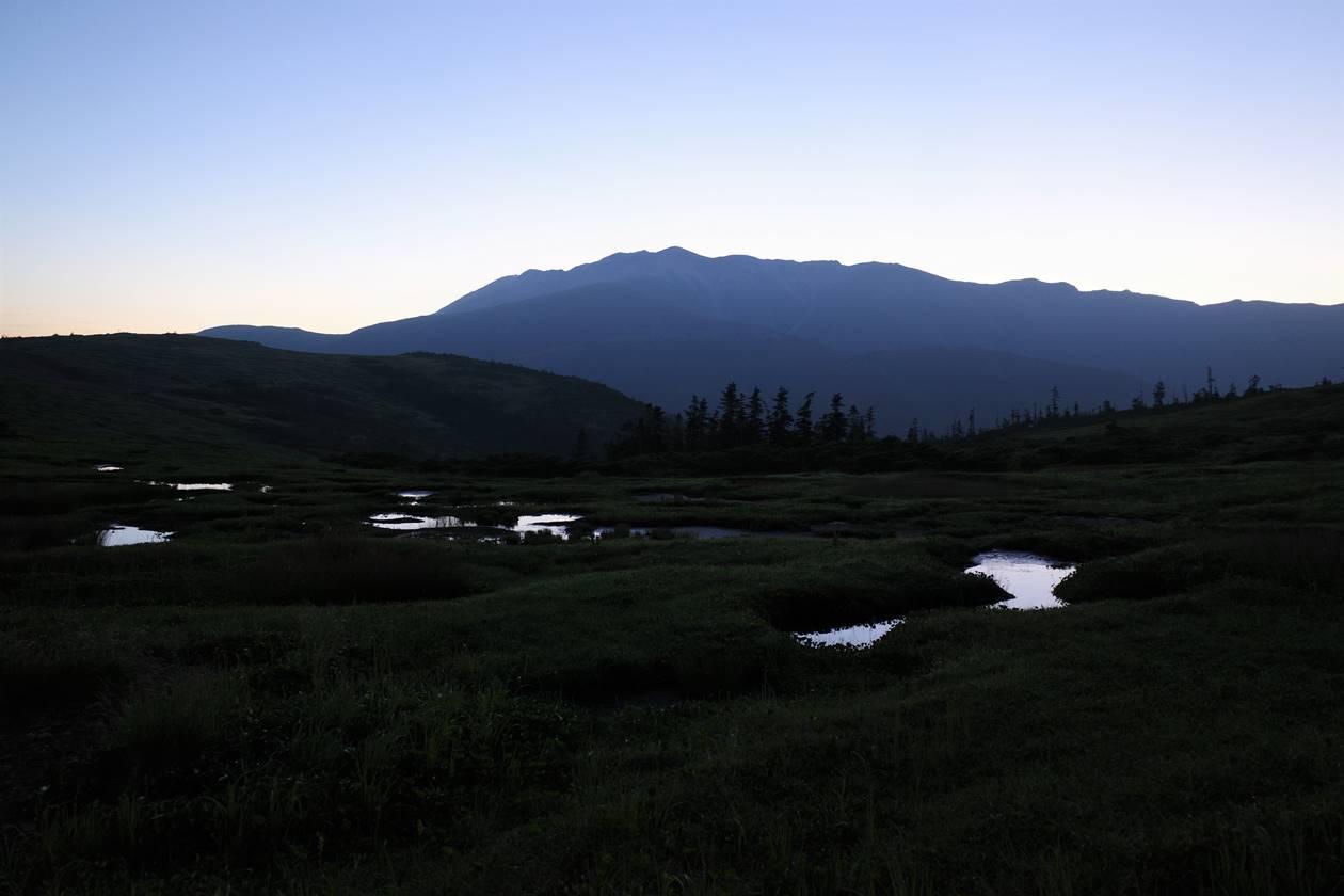 太郎平の夜明けの湿原