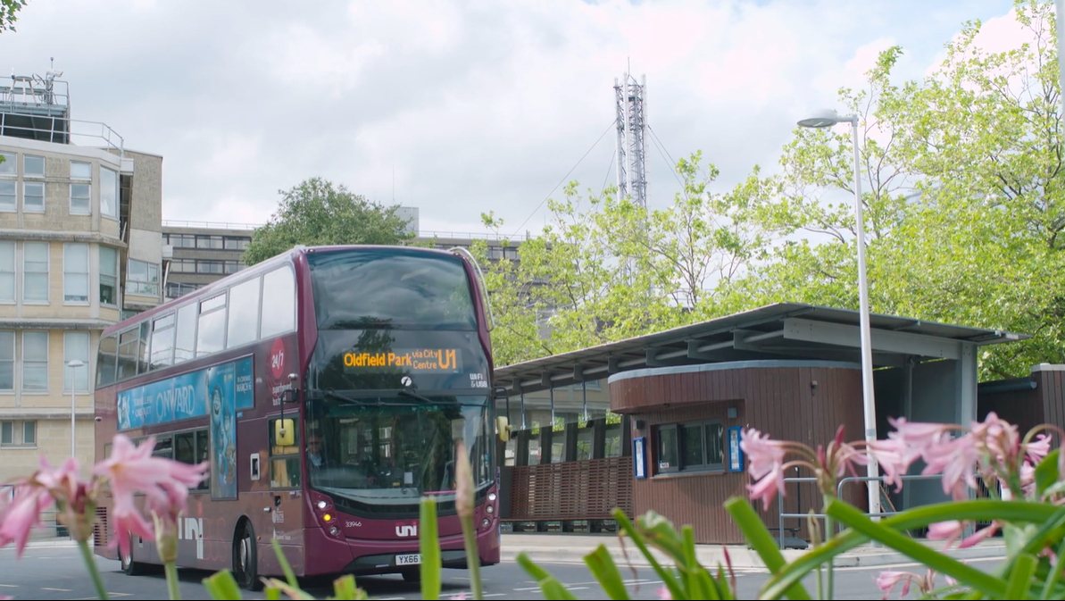 Bus service on campus