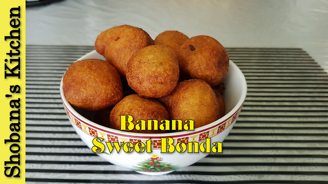 வாழைப்பழ போண்டா Srilankan Style / Tasty Banana Balls / Tea Time Snack Recipes / Shobanas Kitchen