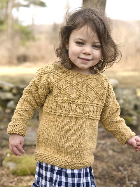 Ana by Cirilia Rose is a simple gansey knit using Berroco Remix