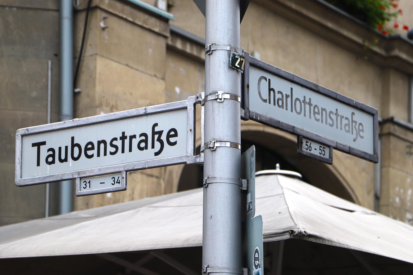 Ecke Charlottenstraße & Taubenstraße