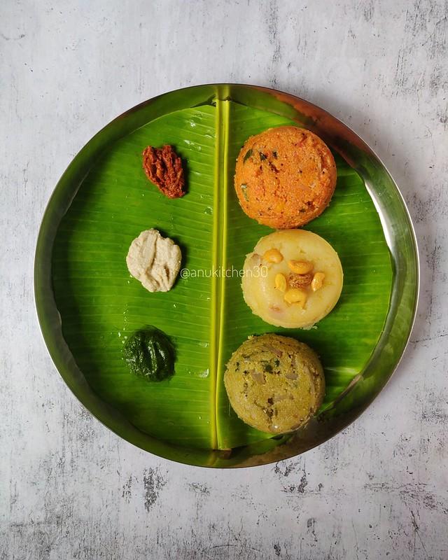 ಟೊಮೆಟೊ ಉಪ್ಪಿಟ್ಟು , ಕೇಸರಿ ಬಾತ್  ಮತ್ತು ಪುದೀನ ಉಪ್ಪಿಟ್ಟು |  Tomato Upma , Kesari Bath and Pudina Upma