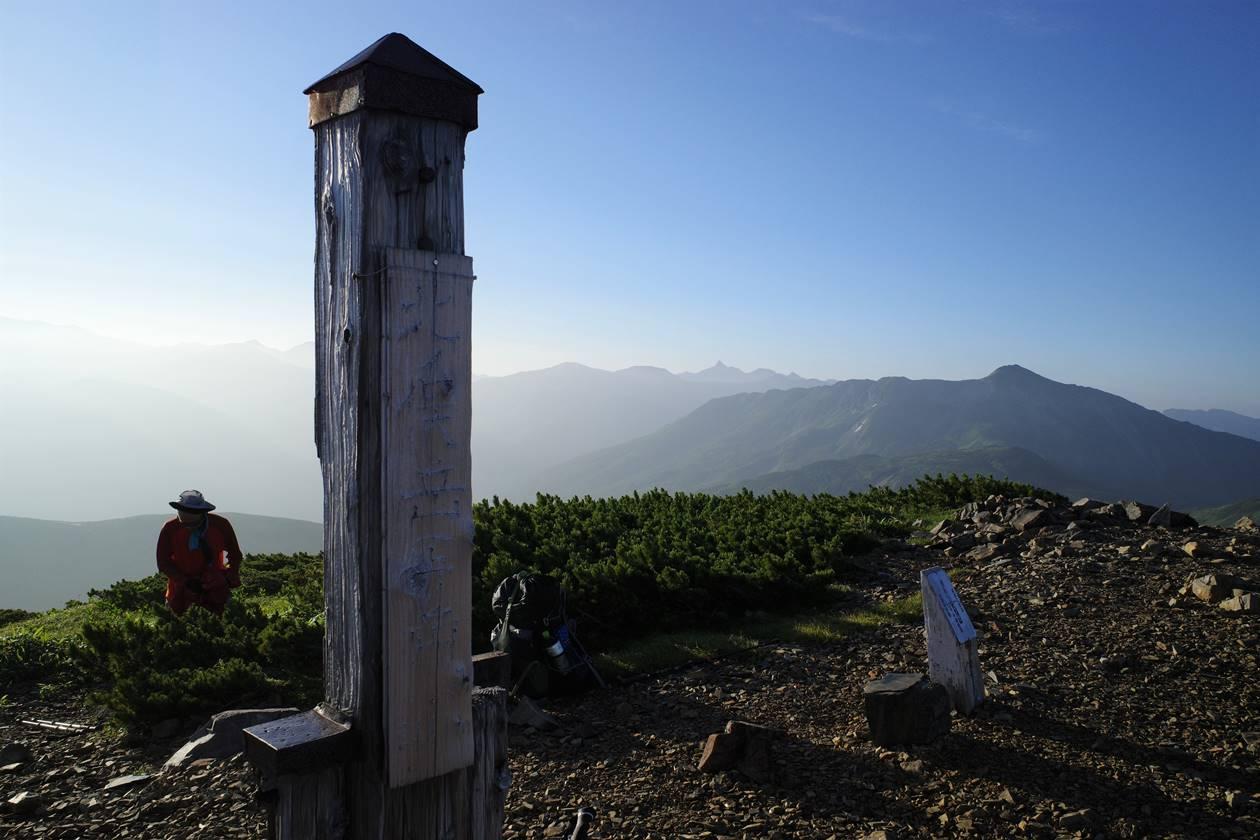 北ノ俣岳山頂標識