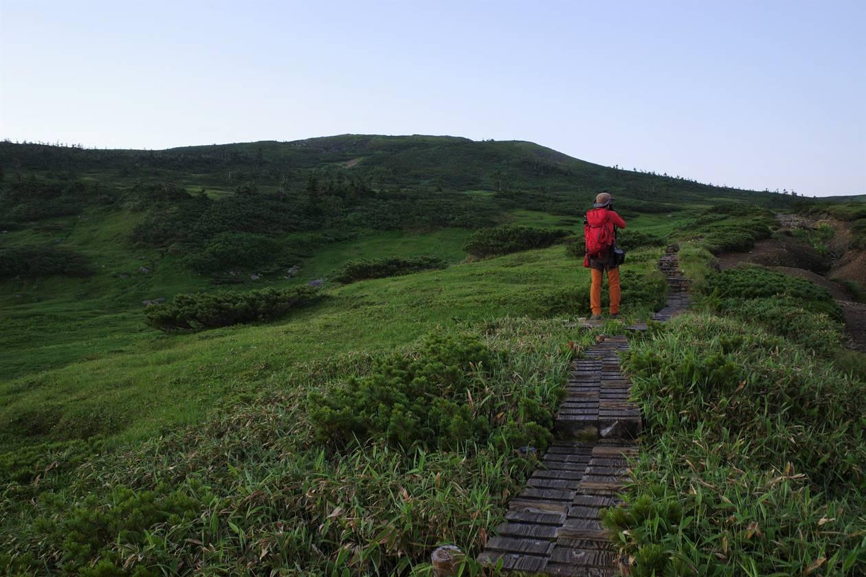 太郎平~北ノ俣岳の木道路