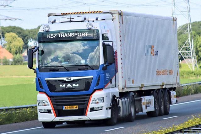 MAN TGX, KSZ transport, Holland.