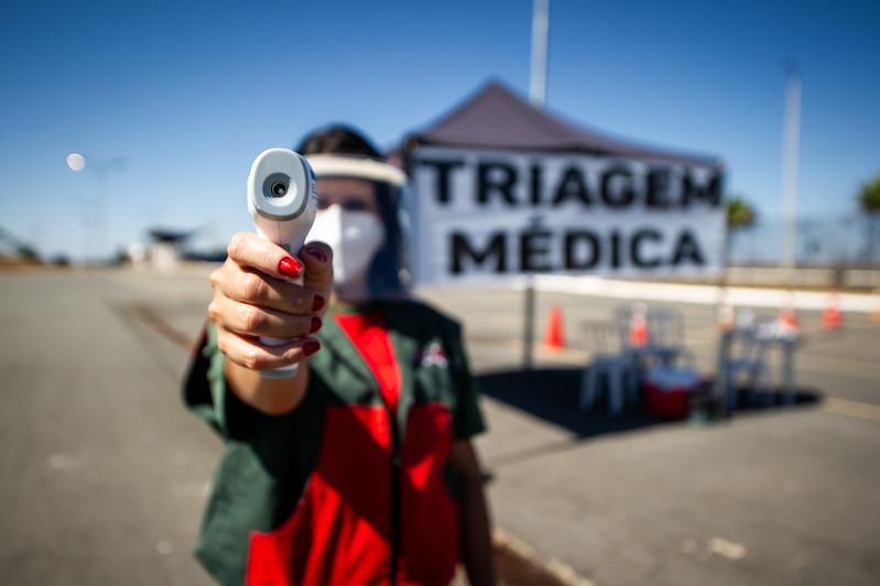14/08/20 - Triagem médica na Copa Truck - Fotos: Duda Bairros