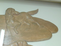 Manchester GA Post Office Wooden Relief