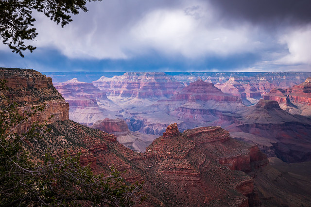Foreboding Sky Over The Grand Canyon
