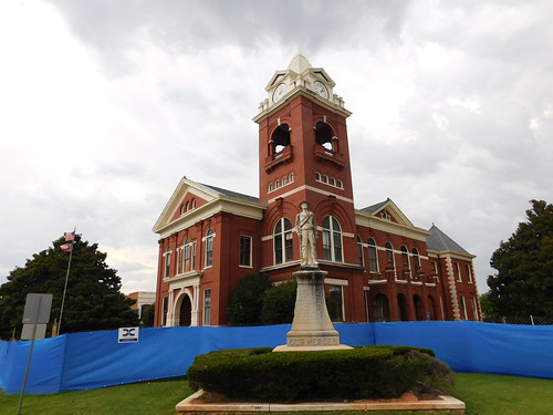 (Old) Butts County Courthouse  & Confederate Monument