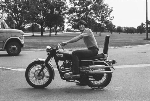 Baylor University Students-1972-73, Triumph Motorcycle