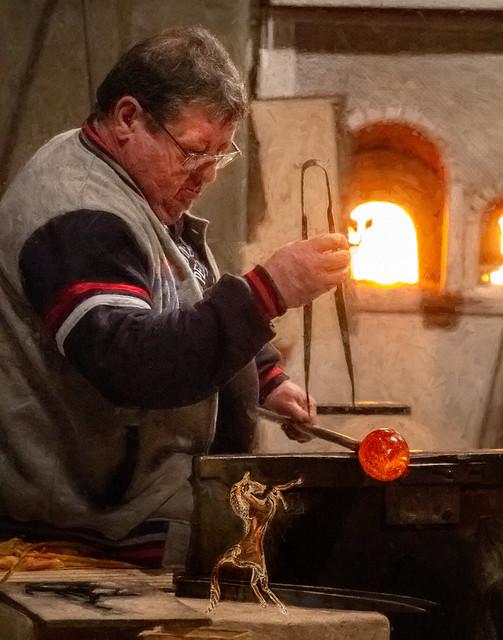 Murano Glass blower