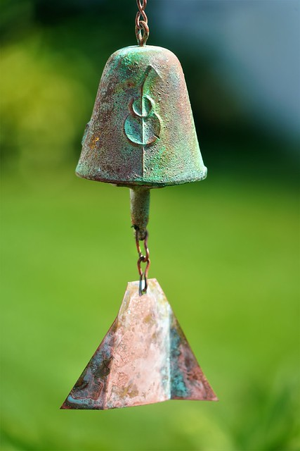 Ring the Bell - Smile on Saturday - Unique Arcosanti Windbell