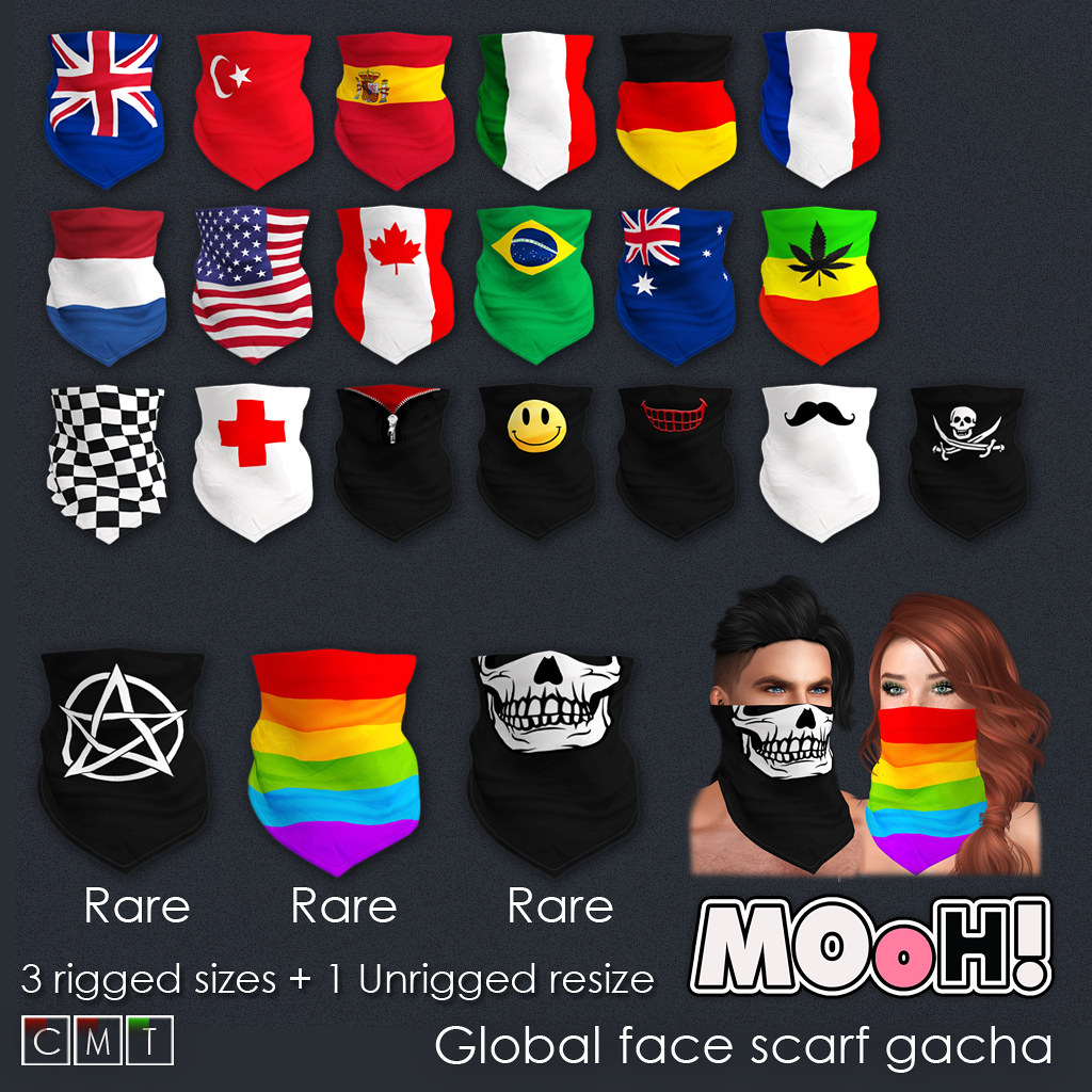 MOoH! Global face scarf gacha