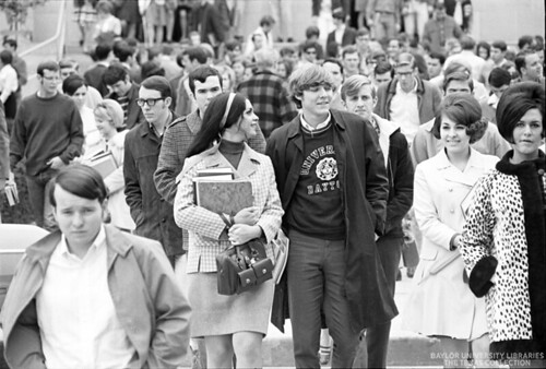 Baylor University Students-1968-69, Crowd (1)