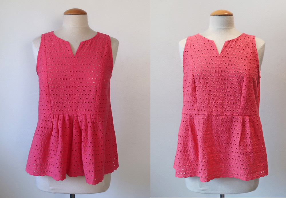 Coral eyelet front view