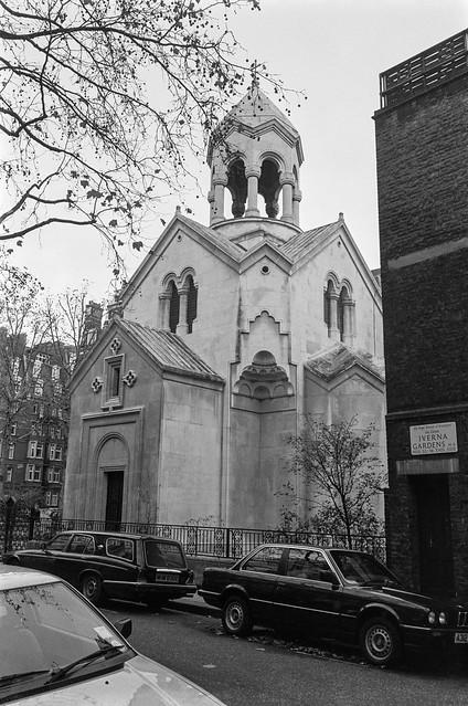 St. Sarkis, Armenian Church, Iverna Gardens, Kensington, Kensington & Chelsea, 1987 87-11e-46-positive_2400