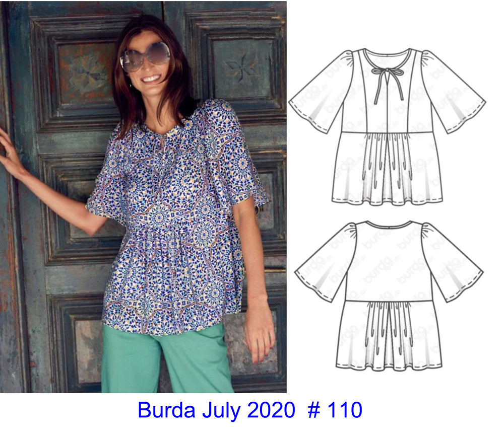 Burda tech drawign 07-2020-110 top