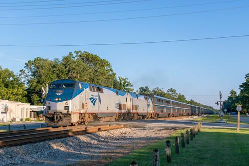 ge p40dc amtrak auto train folkston georgia