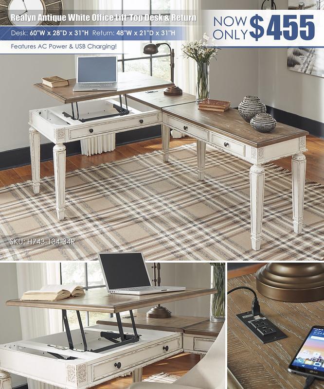 Realyn Lift Top Office Desk_H743-134-DWN-H200-07