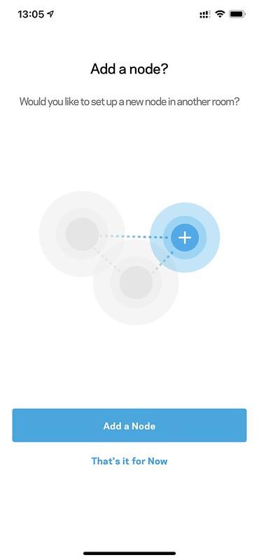Linksys iOS App - Setup Node - Start