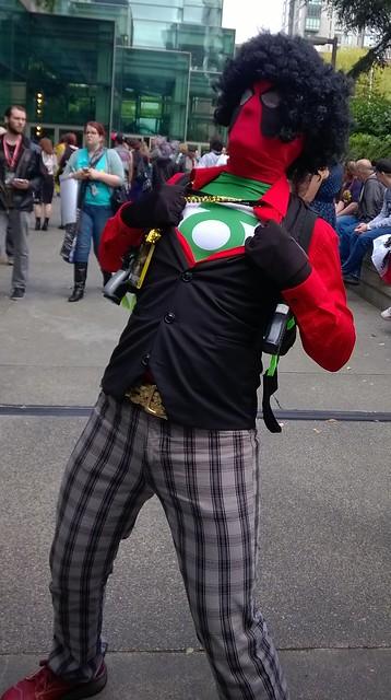 Green Lantern dressed as Deadpool, Emerald City Comic Con  04/10/2016