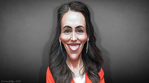 Jacinda Ardern - Caricature