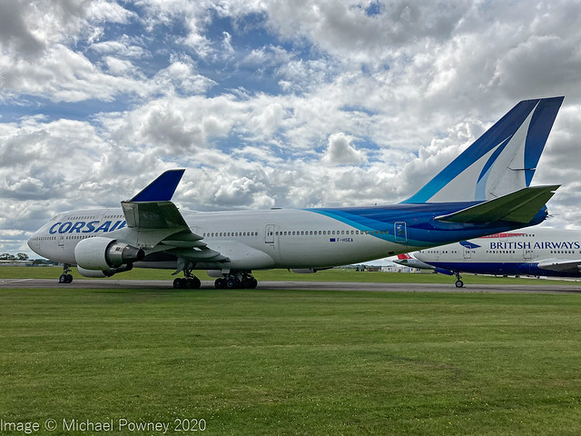 F-HSEA - 1992 build Boeing B747-422, stored at Kemble