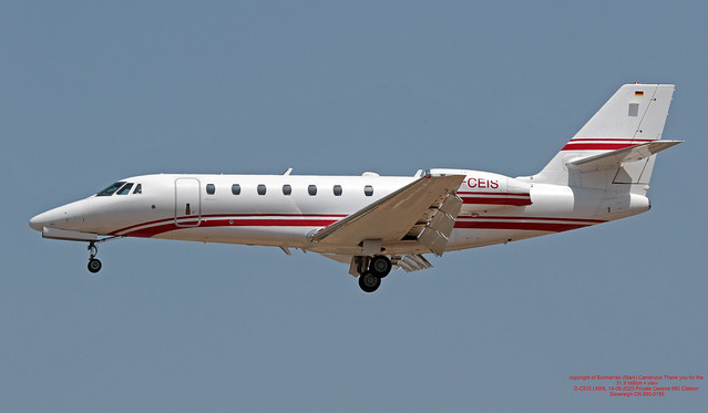 D-CEIS LMML 14-08-2020 Private Cessna 680 Citation Sovereign CN 680-0185