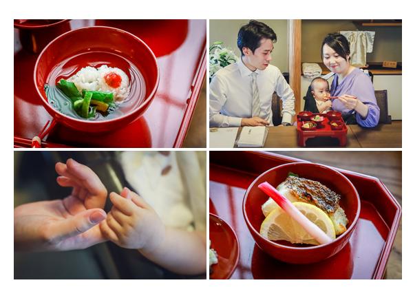 あつた蓬莱軒のお食い初め膳(料理) ママがお箸役 2020年夏(8月) 名古屋市