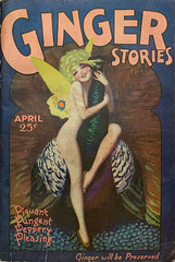 """""""Ginger Stories,"""" Vol. 1, No. 6 (April 1929).  Cover Art by Enoch Bolles.  A spicy pulp magazine from The Roaring Twenties."""