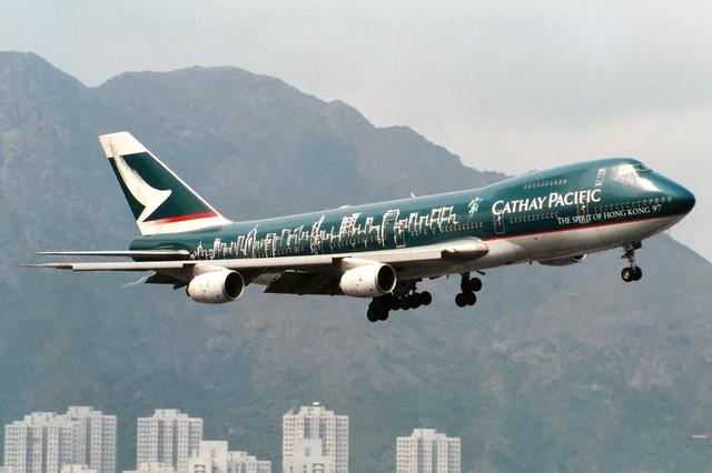 Cathay Pacific | Boeing 747-200 | B-HIB | The Spirit of Hong Kong 97 livery | Hong Kong Kai Tak