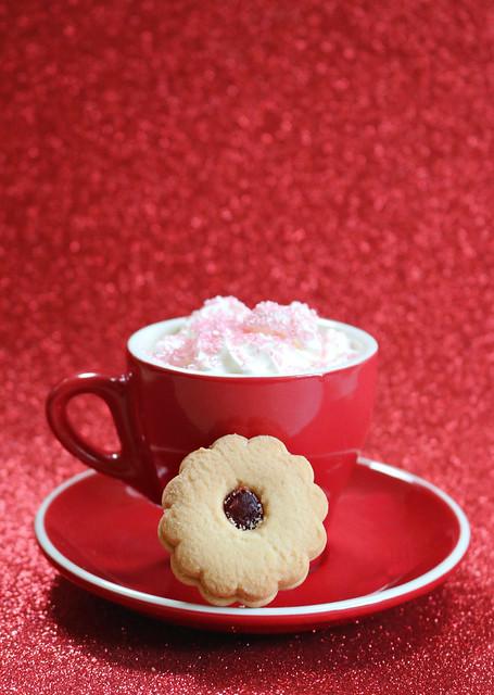 2020 Sydney: Coffee + Strawberry Jam Biscuit