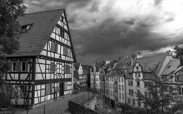 Police Tübingen with a view of Mühlstrasse - I
