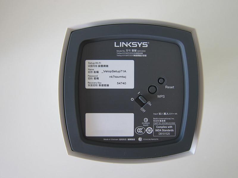 Linksys Velop MX5300 Wi-Fi 6 - Bottom