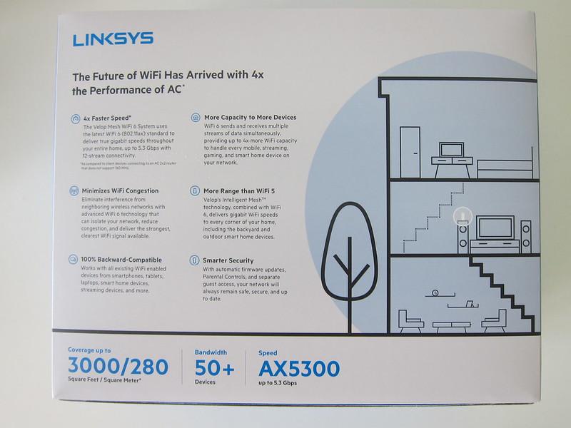 Linksys Velop MX5300 Wi-Fi 6 - Box Back