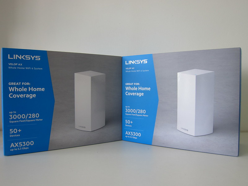 Linksys Velop MX5300 Wi-Fi 6 - Boxes