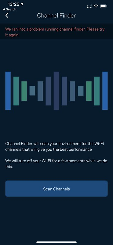Linksys iOS App - Channel Finder