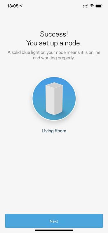 Linksys iOS App - Setup Done
