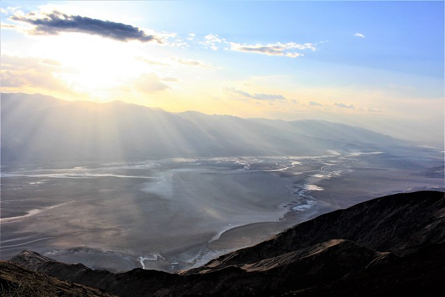 USA - CA - Dante's View - Death Valley at sunset