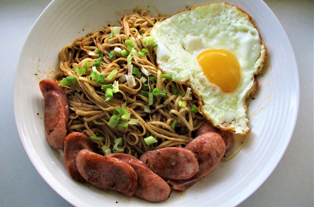 The Kitchen Food zhajiang noodles with sausage and egg