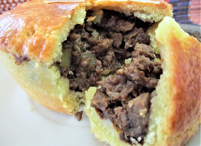 Outright beef pie, filling