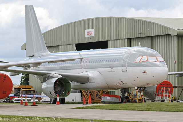 VP-CMS - 2002 build Airbus A320-232, withdrawn from use and parked at Kemble